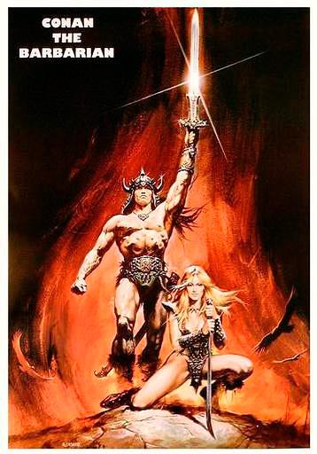 conan the barbarian poster. CONAN THE BARBARIAN came