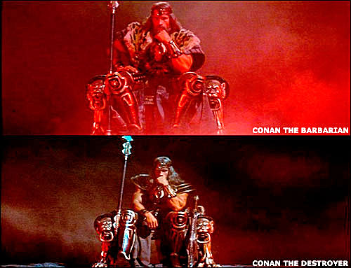 of CONAN  THE DESTROYER  Conan The Destroyer Throne